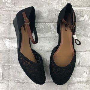 NEW SEYCHELLES Begonia Lace Wedge Mary Jane Shoes